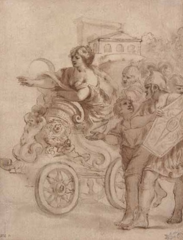tullia sul carro by giovanni francesco romanelli