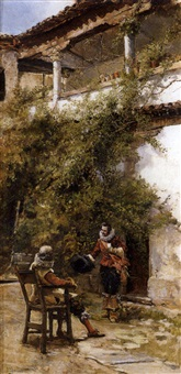 mosqueteros en patio by josé llaneces