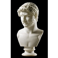 over life-size bust of hadrian by carlo albacini