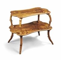 two-tier table by émile gallé