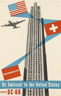swissair/by swissair to the united states/douglas dc - 6b by henry ott