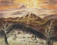 wintersonne im bayrischen wald by albert birkle