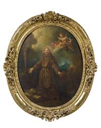 saint françois et saint jean l'evangéliste (pair) by pierre-jacques cazes