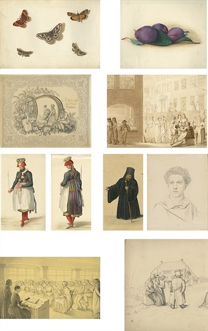a sketchbook (141 works & index) by johann conrad gessner