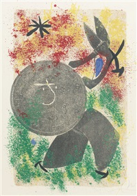the crooked phynancial phang iii; and constellations; 2 works) by joan miró