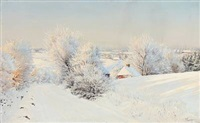 snow covered landscape by hans mortensen agersnap