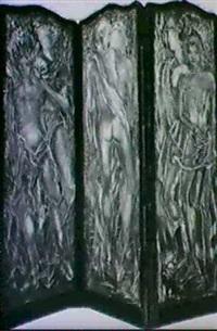 paravent a trois feuilles by gerard locardi