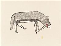 spotted wolf #44 by harold qarliksaq