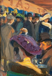 café in paris by akseli valdemar gallen-kallela