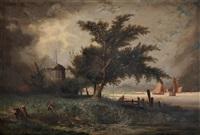 vue de hollande by louis hector leroux