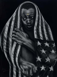 brother and american flag by noni olabisi