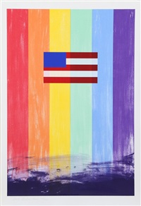gay flag by ross bleckner