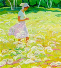 walking through fields of flowers by armen atayan