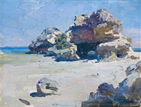london bridge rock, back beach, portsea by theodore penleigh boyd