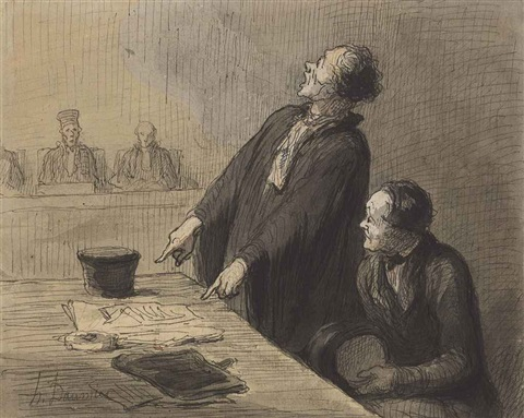 le défenseur the defense attorney by honoré daumier