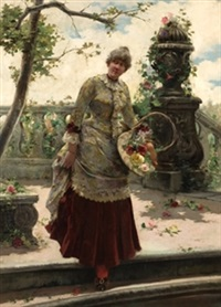 dama en el jardín by eugenio oliva rodrigo