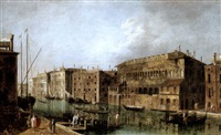 the grand canal, venice, at the fondaco dei turchi by francesco albotti