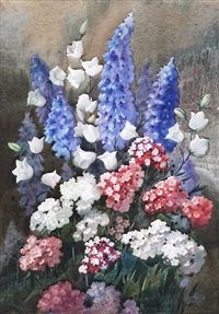 still life of mixed flowers by james gray