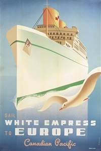 sail white empress to europe/canadian pacific by roger couillard