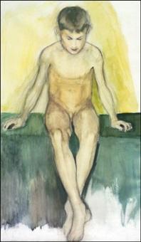 alaston istuva poika by einar ilmoni