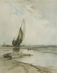 a cutter at low tide by albert markes