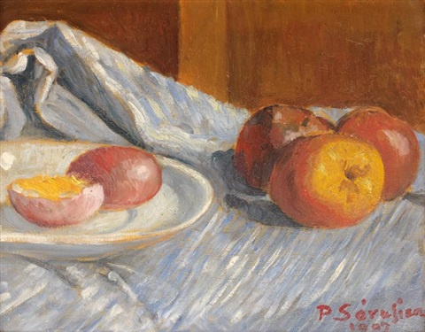 nature morte aux pommes rouges by paul sérusier