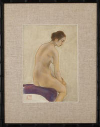 nude woman by kainosho tadaoto