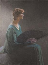 femme à l'éventail by mathilde arbey