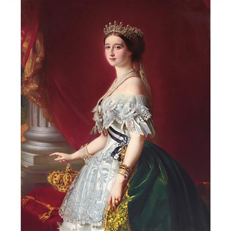 the empress eugenie of france by franz xaver winterhalter
