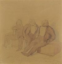 Three Seated Men, 1926