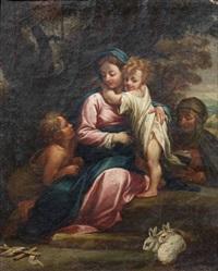 madonna con bambino, sant'anna e san giovannino by anonymous-italian-bolognese (17)