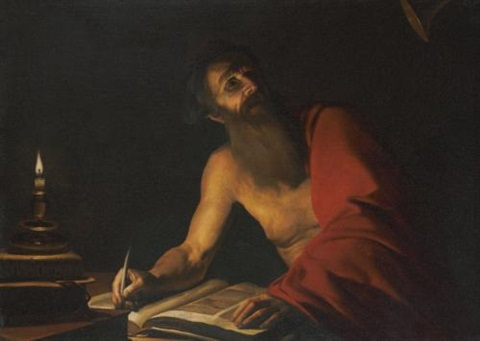 saint jerome reading by candlelight by trophîme theophisme bigot the elder