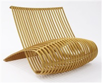 modern wood chair for cappellini by marc newson