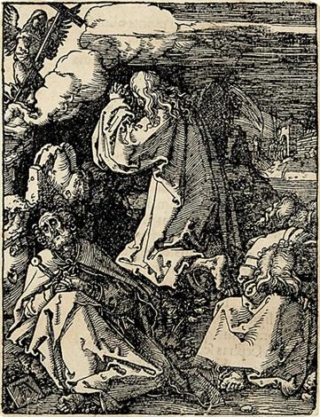 christus am oelberg aus der kleinen passion by albrecht dürer