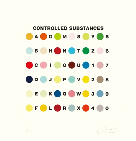 controlled substances key spot by damien hirst