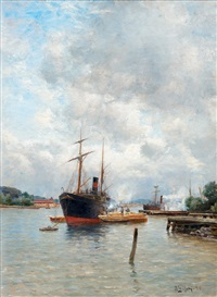 in the harbor by berndt adolf lindholm