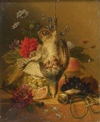nature morte à la perdrix grise by arnoldus bloemers