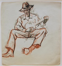 banjo player by dox thrash
