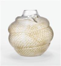 serpent vase by rené lalique