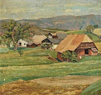 a farm yard view by max kahrer