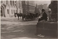 cabbies, bridge street by harold p. cazneaux