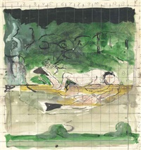 the swimmer (study) by graham sutherland