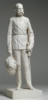 joseph i. von österreich in uniform mit ordensschmuck by hermann klotz