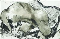 femme allongé by lydie arickx