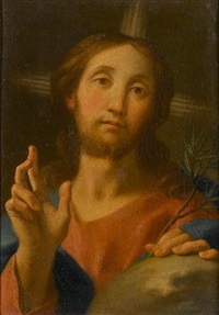 christ as salvator mundi by jacopo alessandro calvi