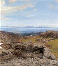 bären in einer höhle am eismeer by josef krieger