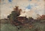 village et basse-cour by leon germain pelouse