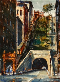 angel's flight - view from 3rd street tunnel by ben abril