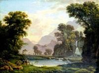 l'éducation d'achille dans un paysage classique by pierre péquignot