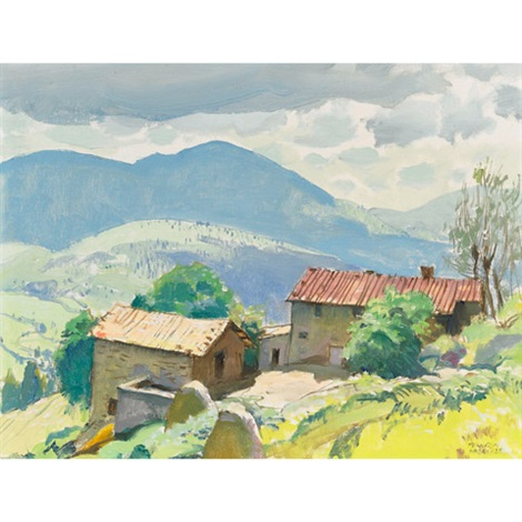 mountain farm on way to montesenario italy july 71 by george franklin arbuckle